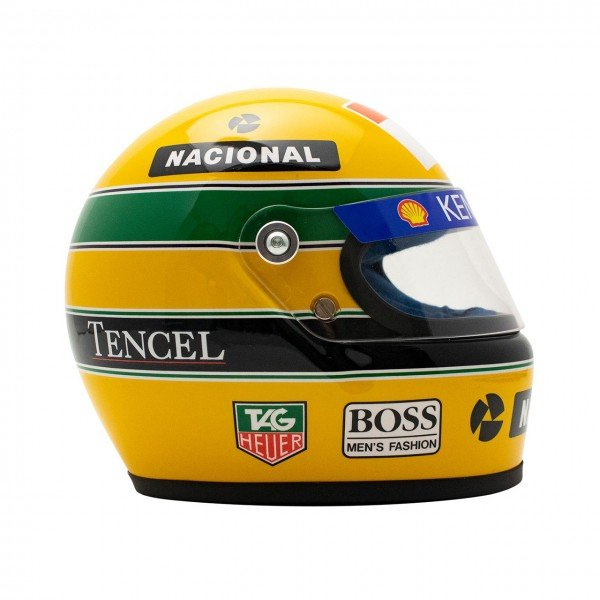 Our latest prize is a Ayrton Senna 12 Scale Helmet 1993. The second picture of our latest prize in our latest UK Car Competitions.